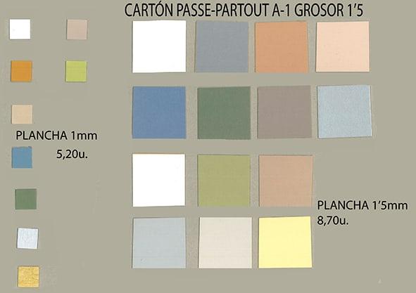 materiales rigidos CARTONES PASSE-PASTOUT