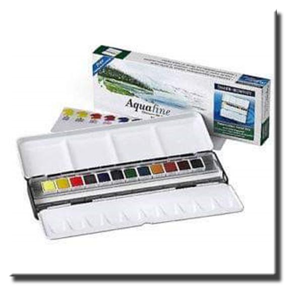 Acurelas Acuafine en pastillas 12 colores