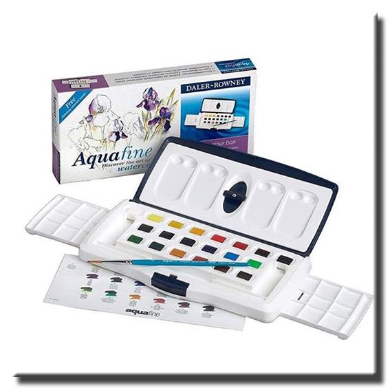 Acuarelas Acuafine en pastilla 20 colores