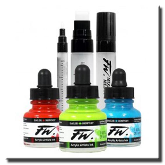 Los marcadores de pintura de medios mixtos Daler-Rowney